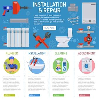 Infografiki usługi hydrauliczne