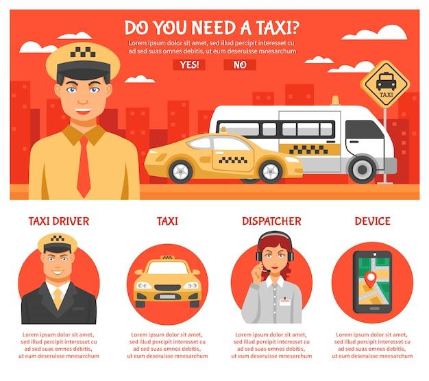 Infografiki usługi taksówkowe