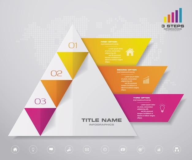 Infografiki wykresu piramidy