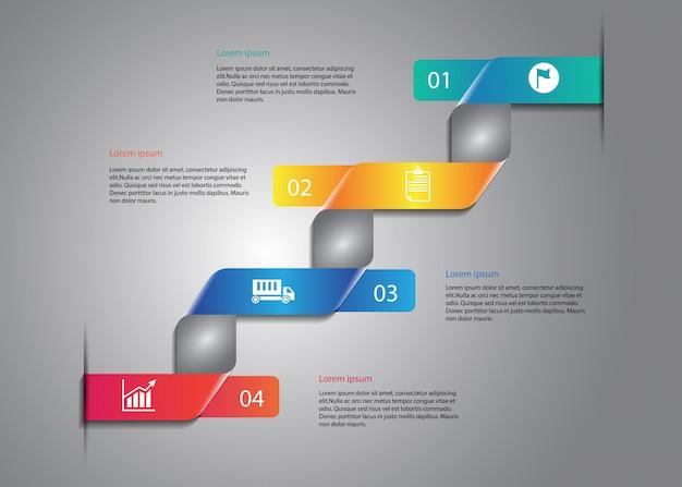 Infografiki z etykietą twist and fold