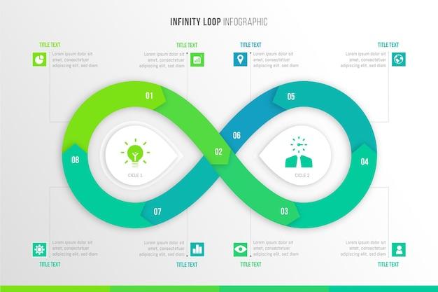 Infografiki z pętlą nieskończoności