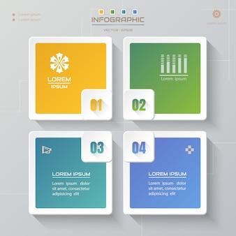 Infografiki zaprojektować szablon z ikonami