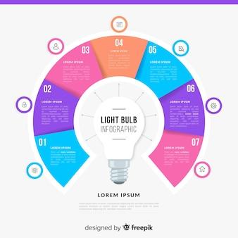 Infografiki żarówki