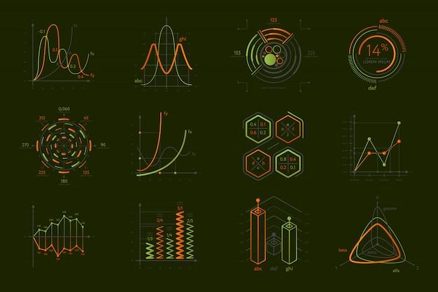 Infografiki zestaw do prezentacji biznesowych