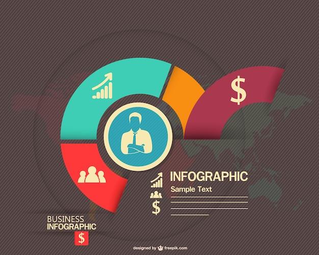 Infograhic projektowe biznes