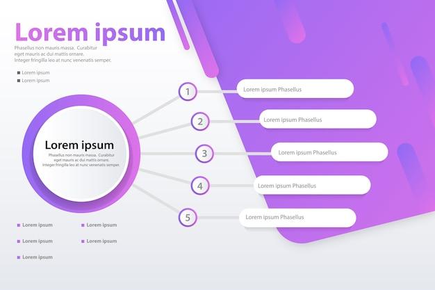 Infographic 5 opcja wektor transparent koncepcja szablonu