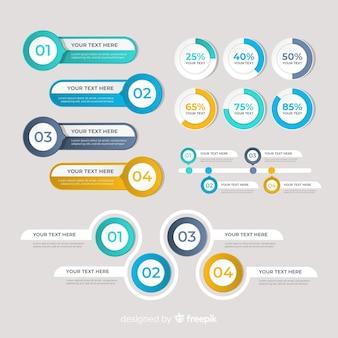 Infographic element kolekcja płaska