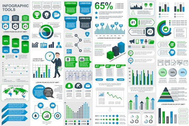 Infographic elementów wektorowy projekta szablon