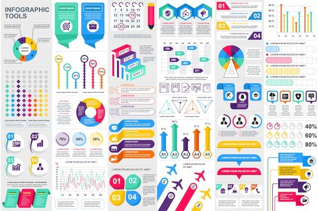 Infographic elementy danych wizualizacji wektor szablon projektu