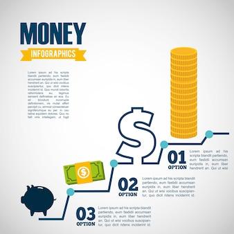 Infographic pieniądze