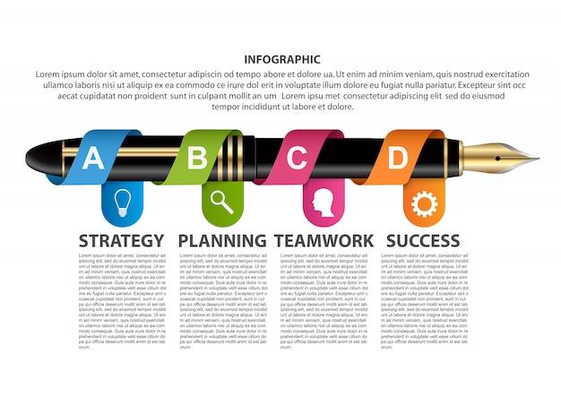 Infographic projekta szablon.