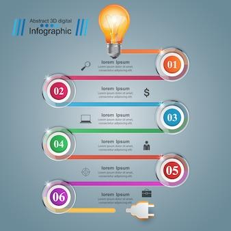 Infographic projekta szablon