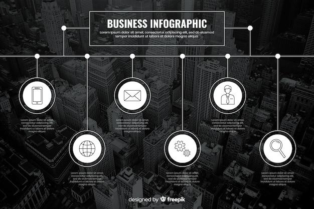 Infographic szablon dla biznesu z fotografią