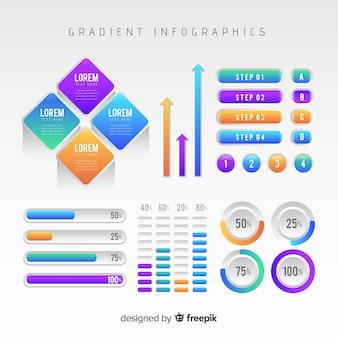 Infographic szablon w gradientu stylu