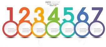 Infographic szablon z krokami i proces dla twój projekta.