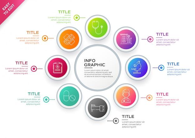 Infographic szablonu projekt