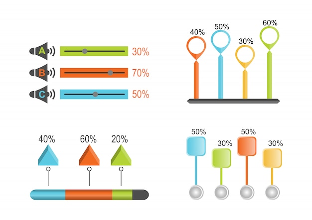 Infographic sztandary szablon