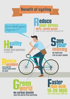 Infographic wektor rowerowy jeździec