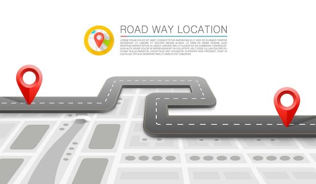Informacje o lokalizacji drogi
