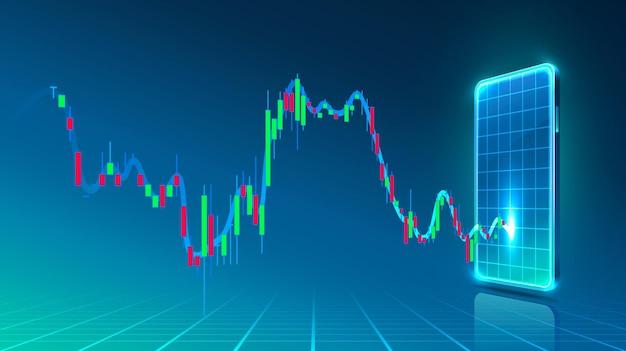 Informacje o wykresie tradera finansowego, broker kupna i sprzedaży