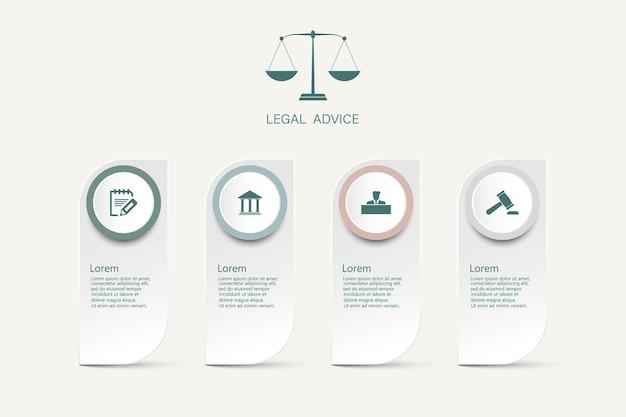 Informacje prawne dla wymiaru sprawiedliwości werdykt prawa sprawa prawny młotek drewniany młotek sąd przestępczy symbol aukcji. infografika