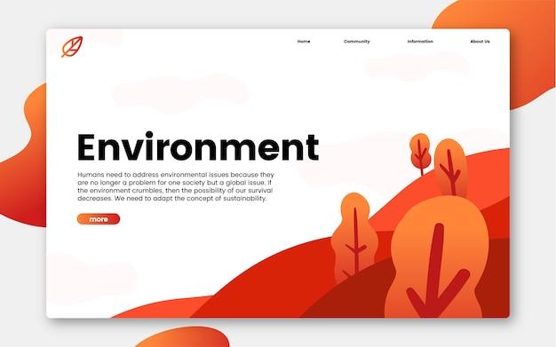 Informacje środowiskowe i charakterystyczne grafikę strony internetowej