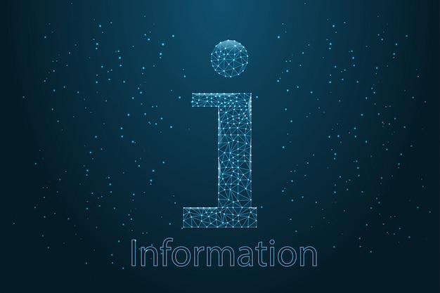Informacje, szablon sieci web z informacjami do projektowania marketingowego.