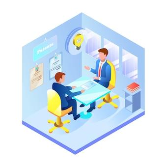 Informacyjna wizyta w biurze patentowym flat.