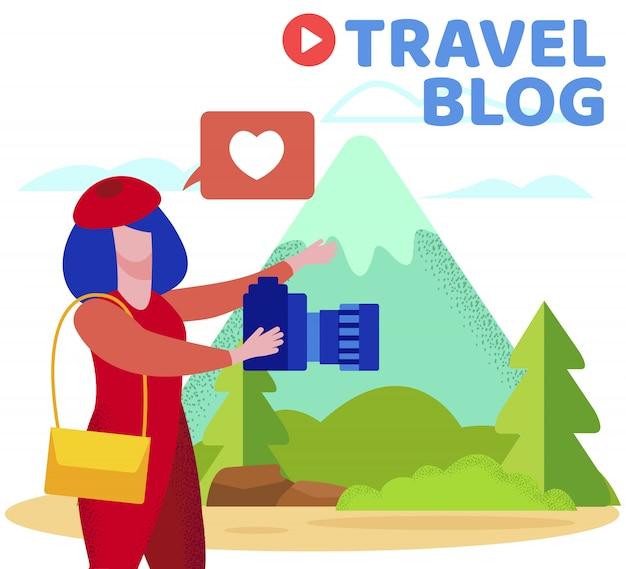 Informacyjny napis na blogu o podróżach.