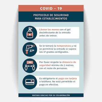 Informacyjny plakat koronawirusa