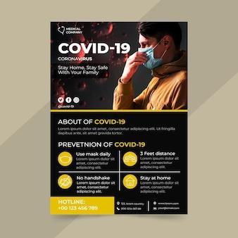 Informacyjny szablon plakatu covid-19