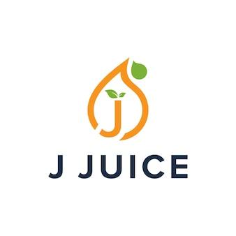 Inicjały litera j sok prosty elegancki kreatywny geometryczny nowoczesny projekt logo