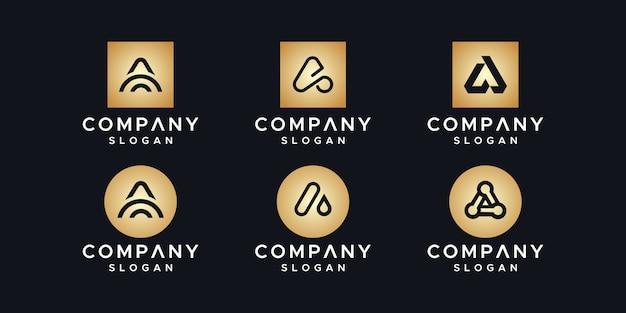 Inicjały szablon projektu logo.