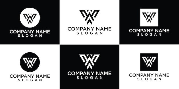 Inicjały w szablon logo