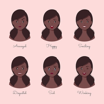 Inna kolekcja postaci z kreskówek afro american woman