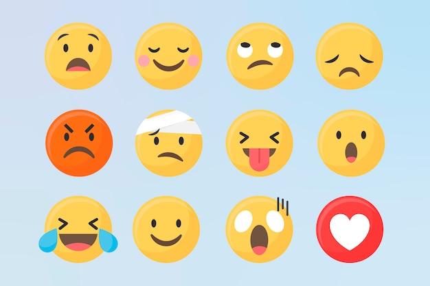 Inny zestaw emotikonów