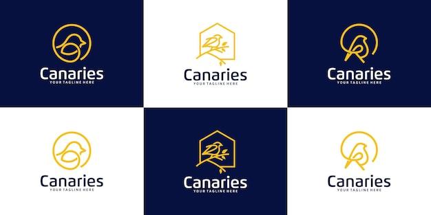 Inspiracja do kolekcji logo ptaszarni, sklepów z ptakami i ptaków domowych