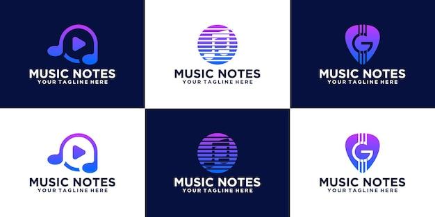 Inspiracja do kreatywnej kolekcji logo muzycznego