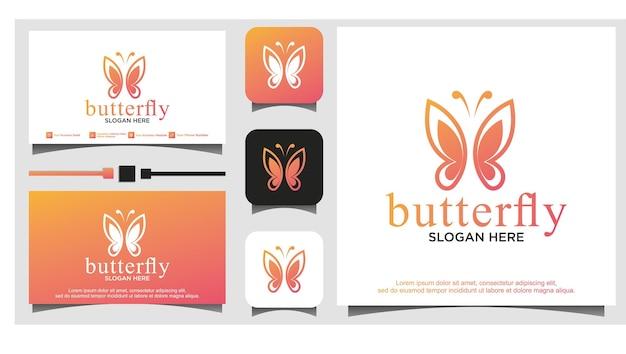 Inspiracja do projektowania logo beauty butterfly - vector