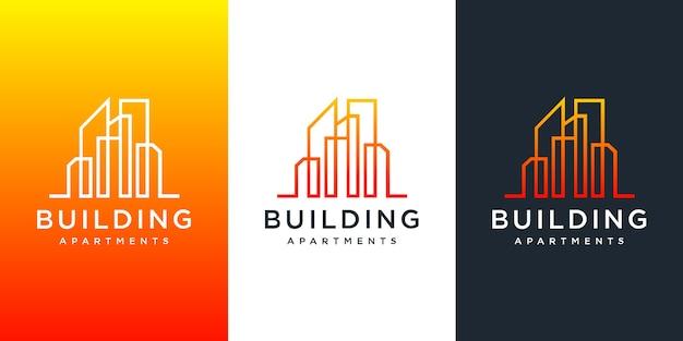 Inspiracja do projektowania logo budowy budynku.