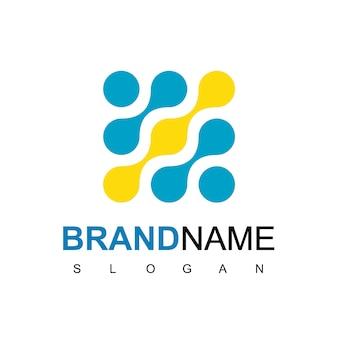 Inspiracja do projektowania logo cząsteczki technologii