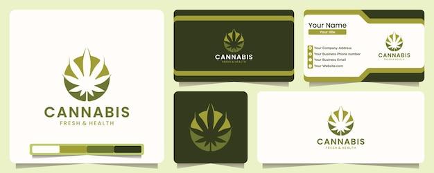 Inspiracja do projektowania logo liści marihuany medycznej