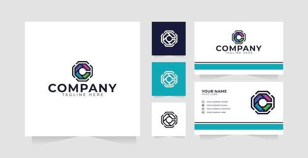 Inspiracja do projektowania logo litery c i wizytówka