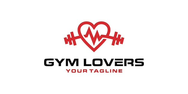 Inspiracja do projektowania logo miłośników fitness siłowni