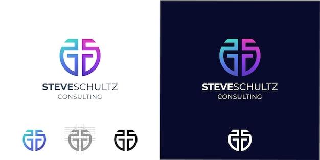 Inspiracja do projektowania logo monogram letter ss