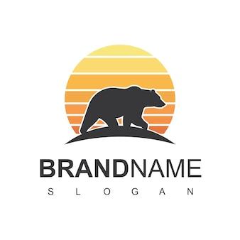 Inspiracja do projektowania logo niedźwiedzia