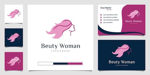 Inspiracja do projektowania logo piękna kobiet.