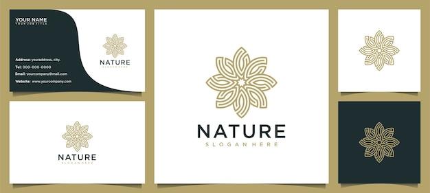 Inspiracja do projektowania logo piękna kwiatów dla salonu