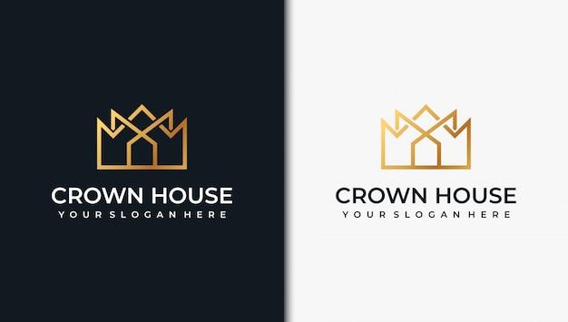 Inspiracja do projektowania logo złotego budynku, z koncepcją linii