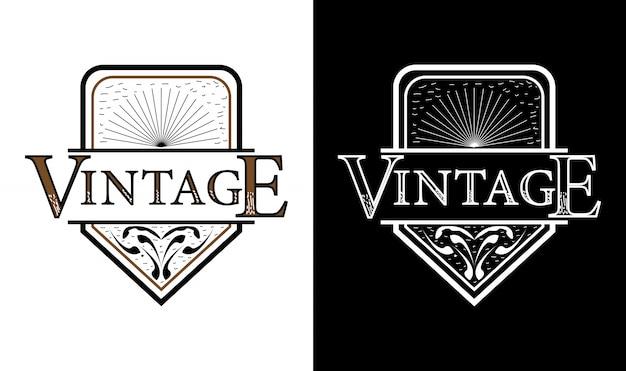 Inspiracja eleganckim logo vintage retro odznaka etykieta logo